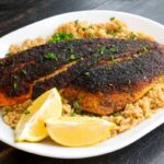 Blackened Grilled Snapper Fillet