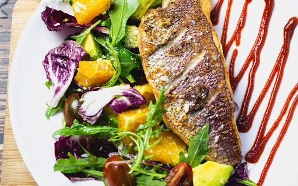 Pan Fried Snapper Fillet with Arugula Salad
