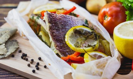 Snapper Baked in Parchment Paper