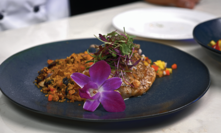 Butterflied Snapper with Quinoa and Tropical Fruit Salad