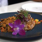 Butterflied Snapper with Quinoa and Tropical Fruit Sauce