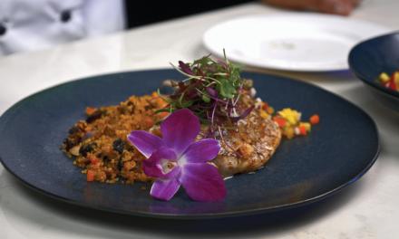 Golden Quinoa & Tropical Fruit Sauce